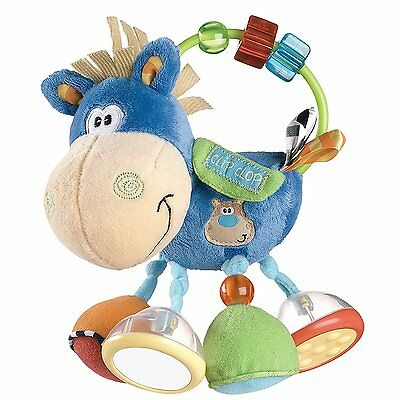 Clip Clop Activity Baby Rattle Toy - Infant play Horse Cow w/ Music & Sounds