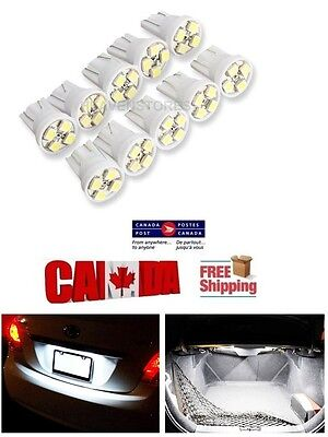 10pcs 4SMD White 6000k LED T10 194 158 168 912 Map Dome License Plate Light Bulb