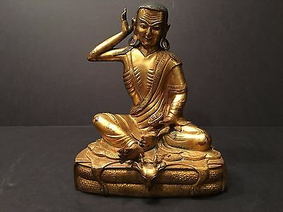 Antique Chinese Gilt Bronze Buddha, 18th Century or earlier