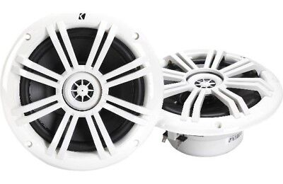Kicker 41KM604W 6.5 Inch 150 Watt 4-Ohms KM-Series Marine Power Speakers