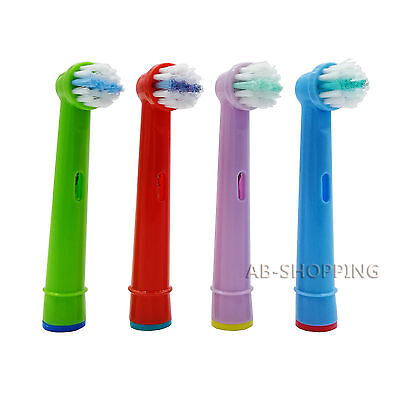 4pcs Generic Braun Oral-b Eb10 Pro-Health Stages Replacement Kids Brush Heads
