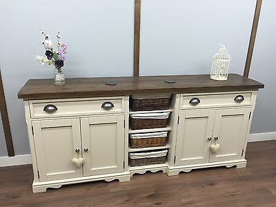 LARGE DRESSER Farmhouse KITCHEN UNIT Rustic Painted SIDEBOARD SHABBY CHIC.