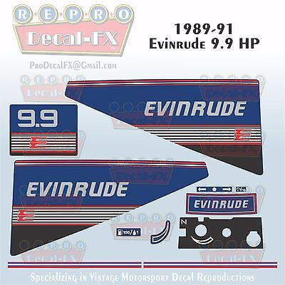1980 Evinrude 4.5 HP Outboard Reproduction 11 Piece Marine Vinyl Decals 5RCS