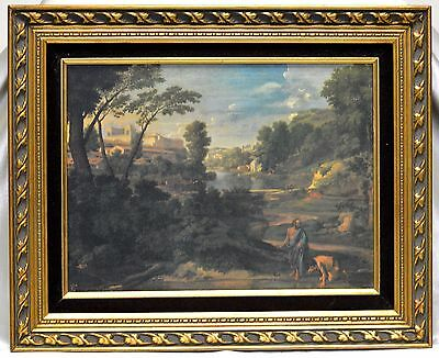 Ancient Times Vintage Decorative Giclee in Gold Antique Style Wooden Frame