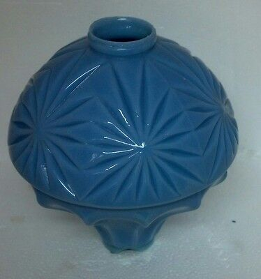 Blue Hawkeye Milk Glass Lightning Rod Ball Roof Cabin Home Barn