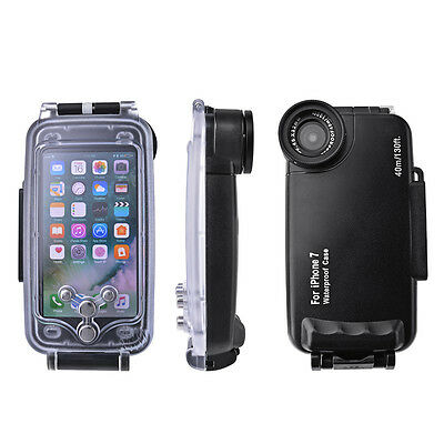 Waterproof Underwater Diving 40m Housing Case Shell Black for iPhone 7 PC754