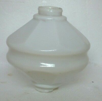 White Doorknob Milk Glass Lightning Rod Ball Roof Cabin Home Barn