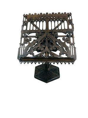 Intricately Carved Antique French Gothic Book/Bible Stand,Oak, Turn of Century