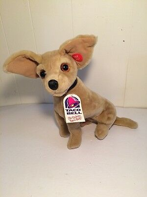 "1998 Taco Bell Yo Quiero Talking Chihuahua Dog Toy 12"" Plush Stuffed Animal- NWT"