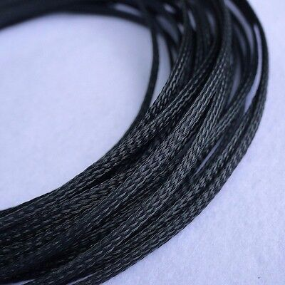 4mm Black DENSE PET Expanding Matte Braided Sleeving Cable Harness 1/3/5/10/20M