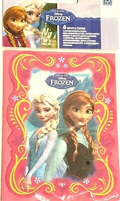 NEW Official Disney Frozen girls stationery party invitations pack of 6