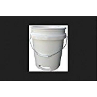 Pail 5gal White Metal Handle