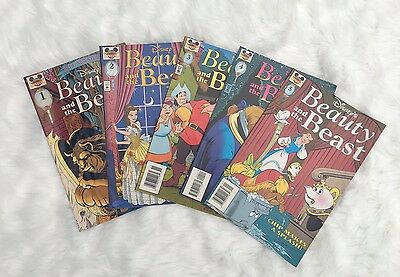 Disney's Beauty and The Beast Comic Book #1, 2, 3, 4, 5 Lot - 1997 Edition -Good