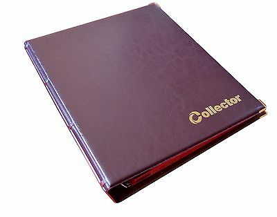 Brown Coin Album 300 Coins Mix Sizes Book Folder Big Capacity Pages Collector
