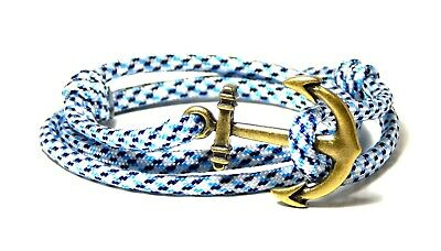 Nautical Anchor Bracelet  Men Women Fashion Vintage Jewelry Adjustable