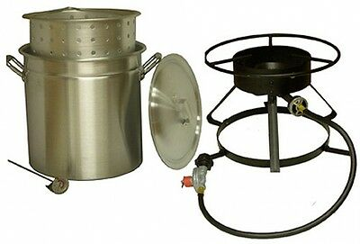 Cooker Pot 50 Quart Steaming Boiling Outdoor Propane Burner Aluminum Camping