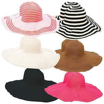 New Wholesale Lot 12pc Assorted Ladies Floppy Sun Hat Set Wide Brim Summer Hats