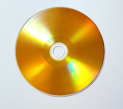 5 Pack Gold Vinyl 48X Cd-R – Non Print - In High Quality Sleeves