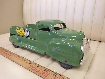 1950s LINCOLN Ice Delivery Truck Pressed Steel Toy CANADA