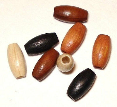 60 - 4x8mm Oval wood wooden beads - High Quality