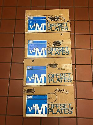 LOT OF (4) 3M Negative Offset Metal Plates 2 Sided 10 x 15 PB (.0035) 400 Total