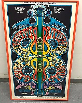 Butterfield Blues Band 1969 BG 166 Fillmore Poster Michael Bloomfield Framed