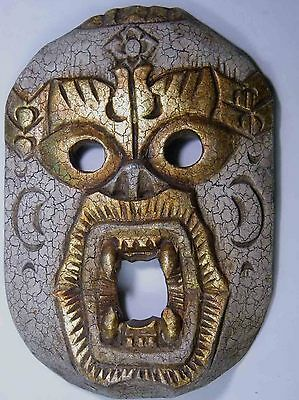 CLASSICAL TRIBAL TIKI WOODEN WALL HANGING MASK BALI INDONESIAN HOME DECOR No.04