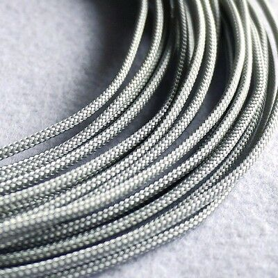 3mm Silver Grey DENSE PET Expanding Matte Braided Sleeving Cable 1/3/5/10/20M