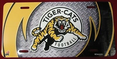 Hamilton Tiger Cats Cfl Football Airbrushed License Plate New In Plastic