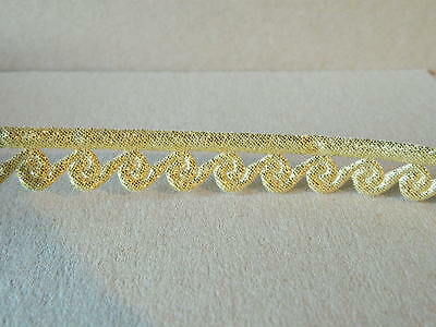 1m Lurex-Gold /Applikation Borte  16mm Breit