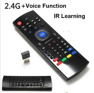 2.4Ghz Wireless Air Mouse Keyboard Voice Remote Control For Android TV Box KODI