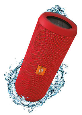 NEW JBL - Flip 3 Red - Splashproof Portable Bluetooth Speaker from Bing Lee