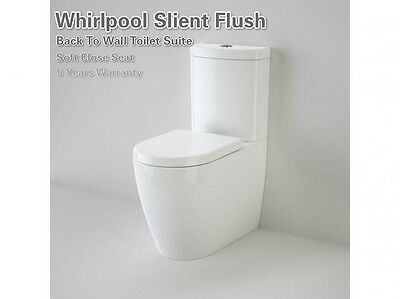 New Whirlpool Flush Back To Wall Toilet Suite Soft Close Seat