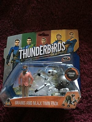 Thunderbirds are go Brains and max   twin  figure  set