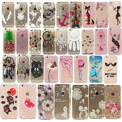 Ultra Slim Rubber Soft TPU Silicone Back Case Cover For Apple iPhone 5 6S 7 Plus