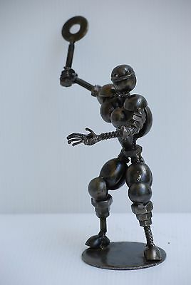 Tennis Player Sport Metal Sculpture Gift for Anniversary