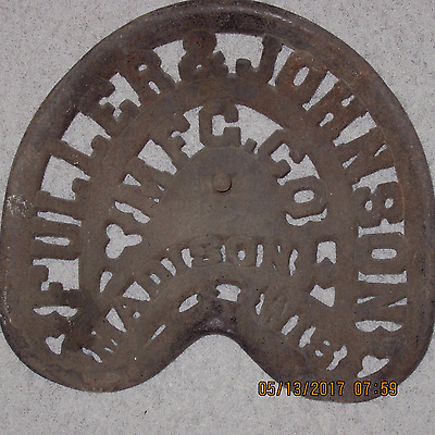 Fuller & Johnson MFG CO Madison WI Tractor Plow Seat Antique Cast Iron Wisconsin