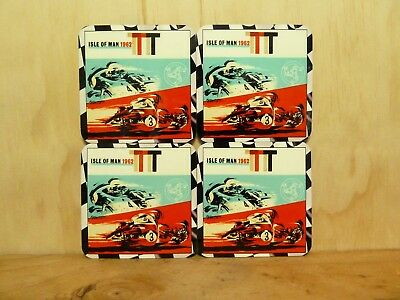 Drink Coaster Set Of 4 - Isle Of Man Tt 1962