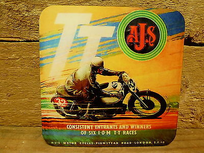 Drink Coaster Set Of 4 - Ajs Motorcycles - Isle Of Man Tt