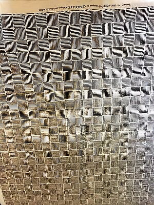 3 3/4 Yards Alan Campbell Quadrille Textura Fabric Brown on Tint