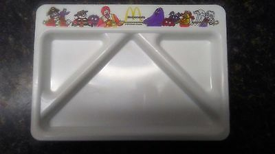 McDonald's Vtg 1987 White Plastic 6x9 Kids Divided Luncheon Food Tray