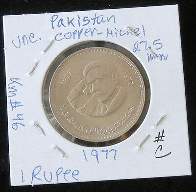 Set Of Two 1977 (Commemorative Issue) Uncirculated Pakistan 1 Rupee Coins (C&d)