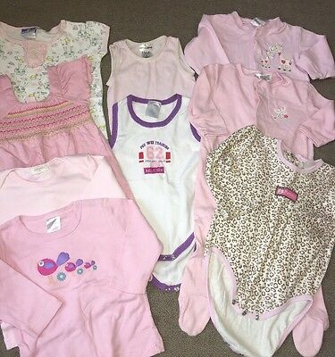 Bulk Baby Girls Size 0. Inc One Piece , Tops, All In One
