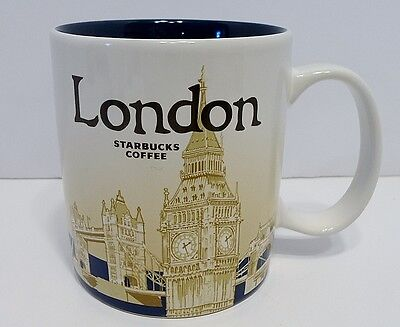Starbucks Coffee 2014 Global Icon Collector Series LONDON Mug 16 oz