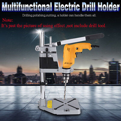 2017 New Universal Drill Press Stand with Heavy Duty Frame and Cast Metal Base