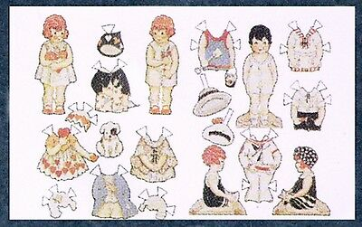 1/12 th scale miniature dollhouse toy paper doll kit