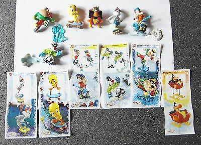 Kinder Looney Tunes Active Winter Sports Serie Completa Con Cartine