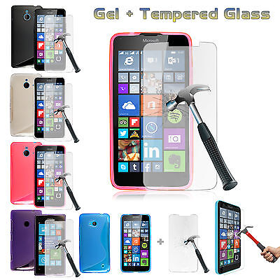 Ultra Thin Gel Case Cover+Tempered Glass For Nokia 6.1/3.1/2.1/5.1/Lumia 950 640