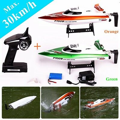 High Speed Racing RC Boat FT009 2.4G 4CH Water Brushless Remote Control Turbo