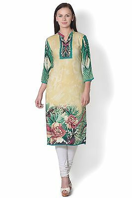 Indian Bollywood Kurta Kurti Designer Lagi Women's Floral Rayon Kurti